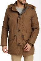 COLE HAAN Anorak Hooded Jacket Coat w/ Removable Faux Fur Trim Hood Mens Size M