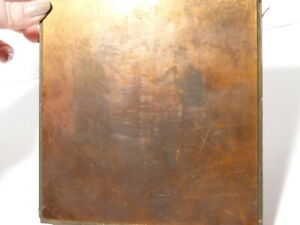 """c1910 Eton Society Sports Engraved Copper Printing Plate  2 Footballers 5.5"""""""