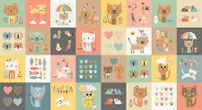 Makower 100 Cotton Twelve Days of Christmas Fabric Panel