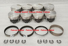 Ford 351C Speed Pro Hypereutectic Coated Skirt Flat Top Pistons+MOLY Rings +30