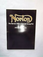 More details for norton motors ltd - offer for subscription document - may 1987