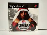 Playstation 2 PS2 Game EA Sports Fight Night Round 2 Demo Disc New Sealed