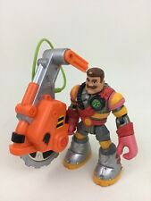 "Billy Blazes Firefighter Saw Fisher Price Rescue Heroes 6"" Action Figure Toy A7"