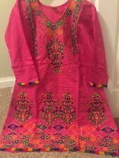 Pakistan Cotton Stitched Salwar Kameez 3 Pcs L Size Chest 40 Net Duppatta