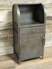 Vintage Industrial 1 door 1 drawer bedside urban vintage industrial cabinet