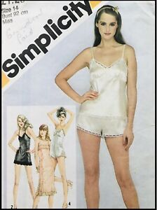 Vintage 80's LINGERIE / TEDDY / CAMISOLE / SLIP Sewing Pattern SIZE 14 (S9859)