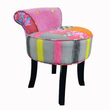Contemporary Padded Stool / Fan Back Chair with Wood Legs - OCH6020