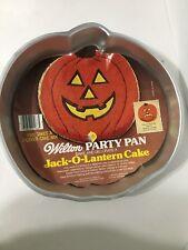 Wilton Halloween Pumpkin Cake Baking Pan Vintage 1997 Jack O Lantern NEW