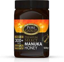 New Zealand Pure Gold Premium Select Manuka Honey 300+ Mgo 500g Active Honey