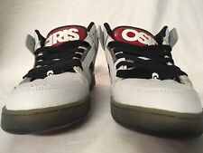 White And Red Osiris NYC 83 Mid Sz. 9.5