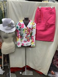 TALLY TAYLOR  SUIT/NEW WITH TAG/SIZE 20W/RETAIL$299/SKIRT 32/HAT NOT INCLUDED