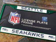 1 Seattle Seahawks Green Metal Vehicle License Plate Frame