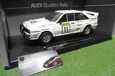 AUDI QUATTRO A2 #11 RALLYE 1000 LAKES 1983 1/18 SUN STAR SUNSTAR 4228 voiture mi