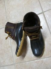 SPERRY TOP SIDER (SIREN GULF)  WOMENS BOOTS (6) BROWN LEATHER UPPER EUC STURDY!