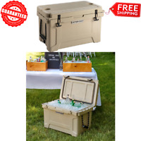 Extreme Heavy-Duty Insulated ROTOMOLDED COOLER ICE CHEST Outdoor Camping - Tan