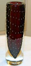 "Murano Vase Cased Glass Controlled Bubbles "" Archimede Seguso"" Signed"