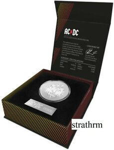 AUSTRALIA 2020 2021 AC/DC  $1 ONE DOLLAR SILVER FROSTED UNCIRCULATED COIN