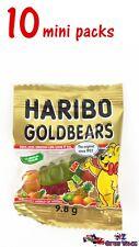 10 Mini Packs 9.8g Haribo GOLDBEARS Candy Gummy Bears Candies