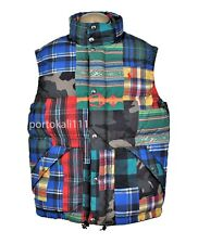 Polo Ralph Lauren Men's Large Patchwork Water-Repellent Down Vest Camo NWT $348