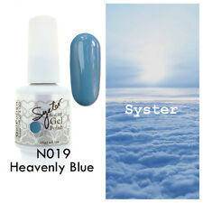 SYSTER 15ml Nail Art Soak Off Color UV Lamp Gel Polish N019 - Heavenly Blue