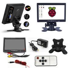 """7"""" Car HD TFT LCD Screen Display AV/VGA/HDMI Monitor with Remote Control DC 12V"""