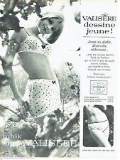 PUBLICITE ADVERTISING 116  1965  Valisère soutien gorge sous vetements  Tahik
