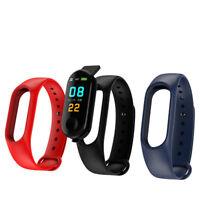 M3 Plus Smart Watch Wrist Sports Bracelet Fitness Tracker Heart Rate Monitor FBB