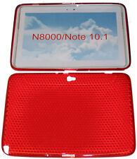 """Funda Protectora De Gel caso Patrón Rojo para Samsung Galaxy 10.1"""" N8000 N8010 Note"""