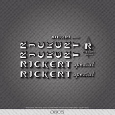 0605 Rickert Bicycle Stickers - Decals - Transfers
