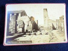 OLD ALBUMEN/CABINET CARD: POMPEI~RUE DE STABIA~ca 1875~PHOTO: ACHILLE MAURI