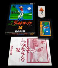 WORLD OPEN GOLF CASIO 14 MSX MSX2 Rom JAP Completo GPM-114