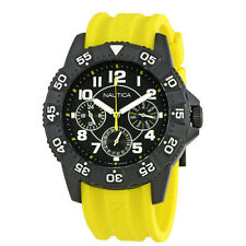 Nautica NSR 104 Multifunction Black Dial Yellow Silicone Watch NAD14537G