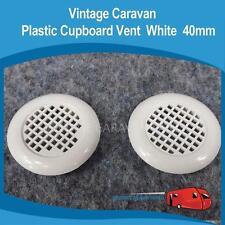 Caravan Plastic Cupboard Vent 40mm White Vintage Viscount, Franklin Gas Vent