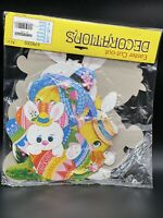 NOS Vintage Easter Die Cut Cut-out New In Package 6 Pieces