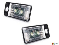 GENUINE AUDI A8 10-16 Q7 10-16 RIGHT LEFT LED LICENSE PLATE LIGHT ASSEMBLY SET