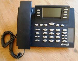 Elmeg CS 410 U CS410-U ISDN UP0 Systemtelefon Telefon schwarz + MwSt. Rechnung