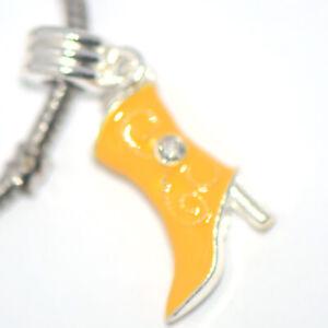 1x Shoes Drop Dangle Bead Spacer Charm Fit Eupropean Chain Bracelet DIY Jewelry