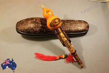 Chinese Hulusi Yunnan Ethnic Instrument + Case + Chinese Knot NEW