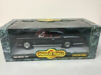 American Muscle ERTL Collectibles 1966 Pontiac GTO Black w Red Interior  1:18