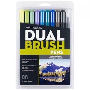 6 Rotuladores Dual Brush Pastel Tombow Tombow ABT-18P-1 Fiber Pen Dual Brush Pen con dos puntas Juego de 18 primarios