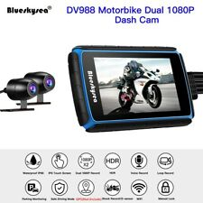1080p Motorrad Dash Videokamera LCD Touchscreen Dual Lens Kamera Weitwinkel