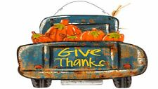 Happy Thanksgiving , Give Thanks Truck Wood Wall Decor
