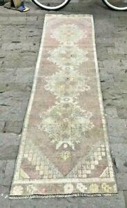 Gray Runner Rug, Handmade Vintage Wool Rug, Hallway Rug, Corridor Rug, Stair Rug