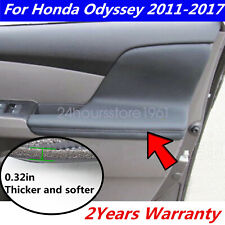2pcs L&R For Honda Odyssey 2011-2017 Door Armrest Replacement Cover Leather Gray