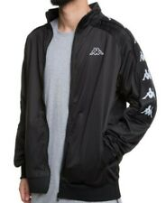 250120a337 Kappa 3031QC0 Men's 222 Banda 10 Ahran Track Jacket in Black Medium