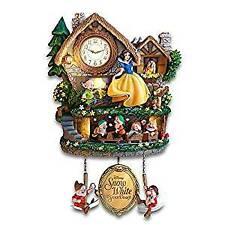 Bradford Exchange Disney Snow White and Seven Dwarfs Clock Lights Up with Music