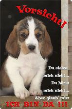 BASSET GRIFFON VENDEEN - A4 Metall Warnschild Hundeschild Alu SCHILD - BGV 07 T2