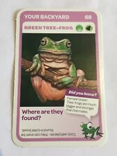 Taronga Zoo Woolworths Aussie Animal Card #68 Green Tree Frog