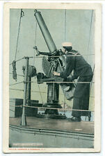 Anti Aircraft Gun US Navy Military WWI era postcard