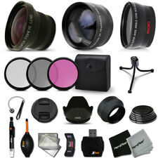 Xtech Kit for Canon EOS 600D Superb 58mm FishEye Lens w/ 2X + Wide + MORE!
